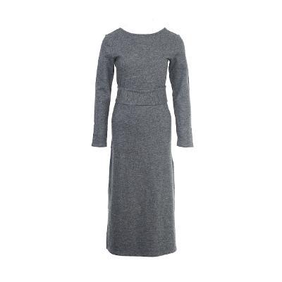 simple design long dress grey